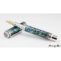 Premium desk fountain pen handcrafted with rhodium and titanium accents